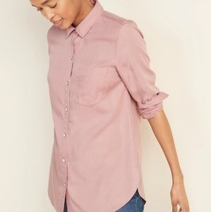 2/$20 NWT 🔖 Old Navy Button Shirt, Dusty Rose